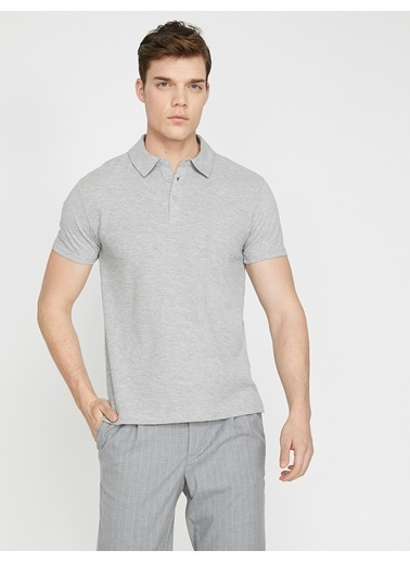 Koton Polo Yaka T-Shirt Gri